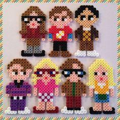 Big Bang Theory perler bead Magnets by K8BitHero