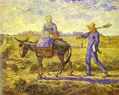 Morning, Going to Work 1890.  Vincent van Gogh
