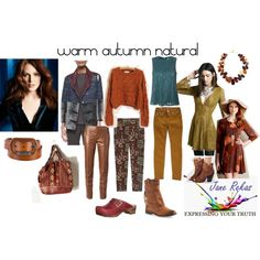 """warm autumn natural"" by expressingyourtruth on Polyvore"