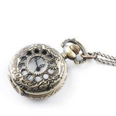 antiken Leck circs Huashi und britischen kleine Taschenuhr Kette Halskette