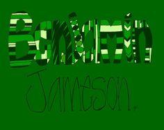 Custom Name by ajreber on Etsy, $45.00