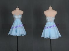 2015 short sky blue prom dresses with by PrincesssBride on Etsy