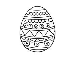 Dibujo de Huevo de Pascua decorado para colorear