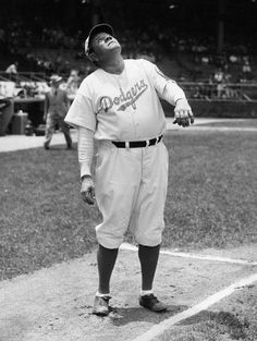 Brooklyn Dodgers first base coach Babe Ruth on June 19, 1938.  (Sporting News Archives)