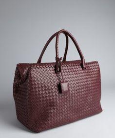 e4397b2b121a Bottega Veneta   maroon intrecciato nappa Brick tote    3525.00 (Orig    4400.00) Tasty