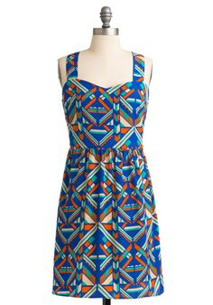 I love the colors and patterns in this dress but....I'm not the biggest fan of the cut. Cute regardless.