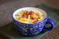 Baked Potato Soup by @Mary Powers ~ Barefeet In The Kitchen