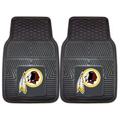 The Washington Redskins Vinyl Car Floor Mat Set has the Redskins NFL logo permanently molded in the center of the floor mat!