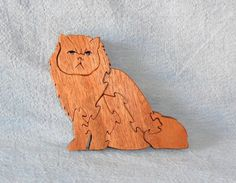 Persian Cat Puzzle   Huebyswoodcreations - Toys on ArtFire
