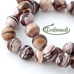 Cappuccino Jasper - 15mm Gemstone Beads - Round 22 Beads $22