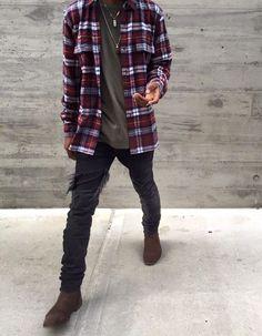 Flannel shirt. Chelsea boots. Colour palette.