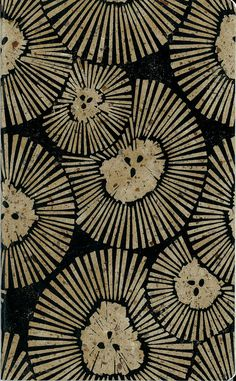 Margaret Rankin - Great use of lino print. Journal cover at Etsy. S.