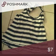 Stripes tank top Blue and white strips Ambiance Apparel Tops Tank Tops