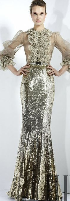 Zuhair Murad, lace and sequin dress
