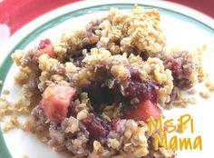 MSPI Mama: Cranberry-Apple Oatmeal Crisp