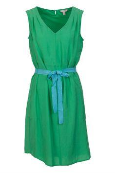 Esprit - Solid Modal Dress W Blue Tie