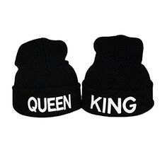 ZMvise King and Queen Trucker Cap Pair Fashion Couple Hats His Beanie Watch  Cap (KQ cd477d2aff6c