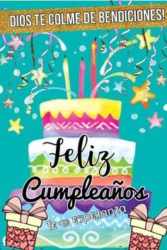 Ideas Birthday Quotes For Her In Spanish Happy Birthday Wishes Spanish, Happy Birthday Clip Art, Birthday Quotes For Her, Happy Birthday Video, Happy Birthday Celebration, Birthday Wishes Messages, Happy Birthday Baby, Birthday Blessings, Happy Birthday Pictures