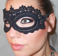 I sat down to create a lace mask for Vicky's Masquerade Wedding Reception. I started with my original pattern for the Crochet Lace Mask...