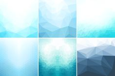 Blue abstract geometric backgrounds. by ExpressShop on @creativemarket