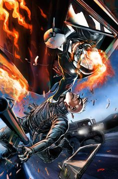 ALL-NEW GHOST RIDER #2 Art & Cover by TRADD MOORE / Variant Cover by FELIPE SMITH / Vehicle Variant by POP MHAN   HW