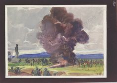 "Ernst Liebenauer (1884-1970) ""Battlefield of World War I"", Watercolor, ca.1915  Statu..."