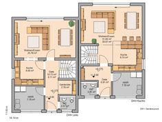 Kern-Haus Doppelhaushälfte Twin XXL Grundriss Erdgeschoss