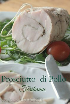 Food, photography and Russian Chicken, Japanese Chicken, Japanese Food, Chicken Ham, Chicken Recipes, Charcuterie, How To Make Sausage, Sausage Making, Parma Ham