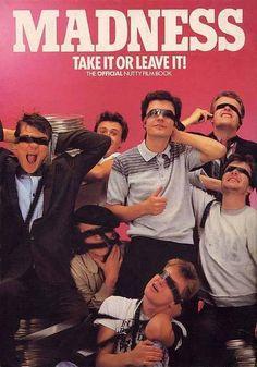 Madness - ska band from London, England Ska Music, Ska Punk, Poster Boys, Poster Wall, Elvis Costello, Band Photography, Band Posters, Music Posters, Rude Boy