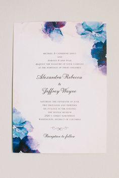This happy couple styled their wedding around Wedding Paper Divas wedding invitations.