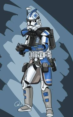 Clone Wars Discover ARC trooper Ghost by SmacksArt on DeviantArt I like the phase 1 armour as senate security before they became the shock-troopers.also besides commander Thire are the 2 other clones Rhys n Jeks with the chain gun Star Wars Pictures, Star Wars Images, Star Wars Episode 2, 501st Legion, Star Wars Drawings, Star Wars Wallpaper, Star Wars Fan Art, Star Wars Clone Wars, Clone Trooper
