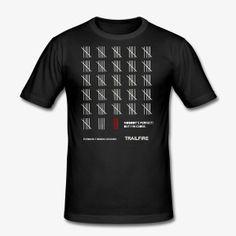 Trailfire Counting - Männer Slim Fit T-Shirt