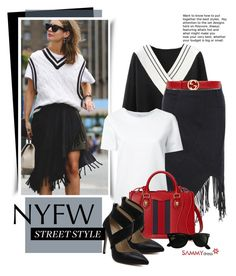 """""""NYFW Street Style"""" by beebeely-look ❤ liked on Polyvore featuring Lemaire, Gucci, Ray-Ban, StreetStyle, NYFW, gucci, sammydress and pvnyfw"""