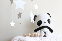 Awww! Plushie Panda Bear Babyshower Giftset Black and by WhitehallFarmMD