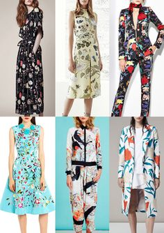 Resort 2015 - Catwalk Print & Pattern Trend Highlights Part 2 Trends 2015 2016, Ss15 Trends, Clover Canyon, Resort 2015, Fashion Prints, Fashion Design, Women's Fashion, Gucci, Floral Style