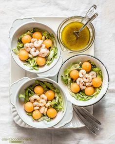 #ensalada de #gambas y #melon #receta #verano #salads #shrimp