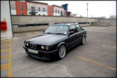 "BMW E30 325i M-Sport. My first ever ""sports"" car as a ""Boy Racer."" Exactly the same as this one, even the wheels. I would love one of these again, great car, I bet I wouldn't get turned down for Insurance cover now! Its becoming a bit of a classic, the cost of these is on the up."