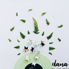 Contemporary star pins in white, mint green and black by DANA Jewellery, handcrafted from vinyl record. Modern Jewelry, Unique Jewelry, Vinyl Gifts, Music Gifts, Minimalist Earrings, Groomsman Gifts, Vinyl Records, Handcrafted Jewelry, Mint Green
