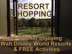 Resort Hopping: 13 tips for enjoying Walt Disney World Resorts and free activities Disney World Florida, Walt Disney World Vacations, Disney Travel, Disney World Honeymoon, Family Vacations, Dream Vacations, Disney Vacation Planning, Disney World Planning, Vacation Planner