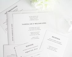 Simple Wedding Invitations in Black and White - Wedding Invitations by Shine