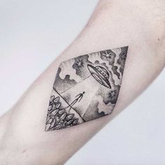UFO Tattoo by Uls Metzger