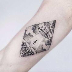 UFO Tattoo by Uls Metzger