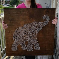 Made to Order Large String Art Sign Elephant by BlossomingBurlap