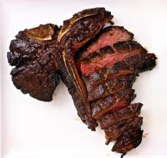 Bitten Word high recommendation: Slow-Roasted, Twice-Fried Porterhouse Steak (takes about 20 hr. Entree Recipes, Beef Recipes, Dinner Recipes, Yummy Recipes, Dinner Ideas, Kinds Of Steak, Eat Your Books, Porterhouse Steak, Good Food