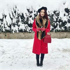 Love Her Style, Cool Outfits, Raincoat, Winter Jackets, Autumn, Red, Vintage, Projects, Ideas