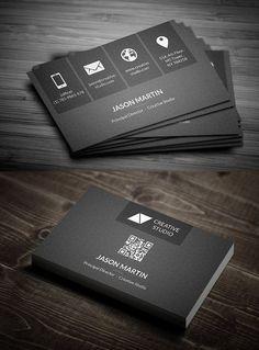 Metro Dark Corporate Business Card