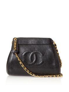 CHANEL Women's Caviar Cross-Body Evening Bag