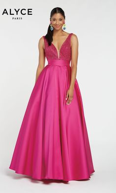 Check out the latest Alyce Paris 60224 dresses at prom dress stores authorized by the International Prom Association. Pagent Dresses, Homecoming Dresses, Formal Dresses, Black Plum, Prom Dress Stores, Pageant, Paris Fashion, Evening Gowns, Fashion Forward