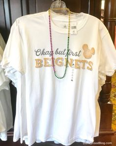 Walt Disney World's Port Orleans French Quarter now has tee shirts declaring our love for Mickey Beignets! Disney Outfits, Cute Outfits, Disney Fashion, Disney Home, Tee Shirts, Tees, Disneybound, Disney Style, Disney Movies