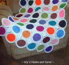 The Candy Drops Blanket is sweet as candy. Check out this bright and shiny crochet baby blanket pattern.